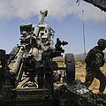 U.s. Marines Fire An M777 Howitzer by Stocktrek Images