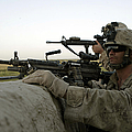 U.s. Marines Observe The Movement by Stocktrek Images