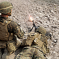 U.s. Marines Provide Suppressive Fire by Stocktrek Images