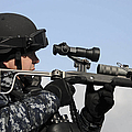 U.s. Navy Chief Uses An La9p Nonlethal by Stocktrek Images