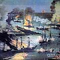 U.s. Navy Destroys Rebel Gunboats by Photo Researchers