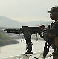 U.s. Navy Petty Officer Stands Watch by Stocktrek Images