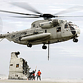 U.s. Sailors Assist A Ch-53d Sea by Stocktrek Images