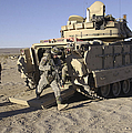 U.s. Soldiers Exit From An M2 Bradley by Stocktrek Images
