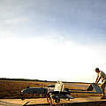 U.s. Soldiers Prepare To Move An Rq-7 by Stocktrek Images