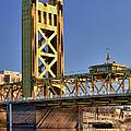 Usa, California, Sacramento, Tower Bridge Over Sacramento River by Bryan Mullennix