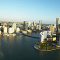 Usa, Florida, Miami, Downtown, Aerial View by George Doyle