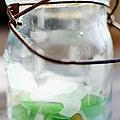 Usa, New York State, New York City, Brooklyn, Sea Glass In Jar by Jamie Grill