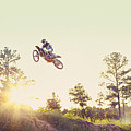 Usa, Texas, Austin, Dirt Bike Jumping by King Lawrence