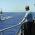 Uscgc Thetis Approaches A German Combat by Stocktrek Images