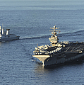 Uss Abraham Lincoln And French Navy by Stocktrek Images