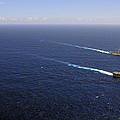 Uss Boxer, Uss Comstock And Uss Green by Stocktrek Images