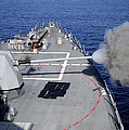 Uss Halsey Fires Its Mk-45 by Stocktrek Images