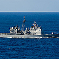 Uss Mobile Bay Transits The Pacific by Stocktrek Images