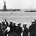 Uss Pennsylvania Sailors Cheer by Underwood Archives