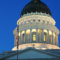 Utah State Capitol Building Dome At Sunset by Gary Whitton