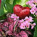 Valentine Heart And Flowers by Byron Varvarigos