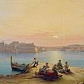 Valetta Harbour At Sunset by Henry Charles Ferro