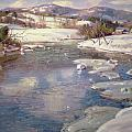 Valley Stream In Winter by George Gardner Symons
