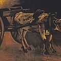 Van Gogh - Karren Mit Rotbraunem Ochsen.jpeg Cart With Red And White  by Vincent Van Gogh