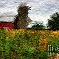 Van Gogh At The Barn by David Bearden
