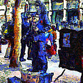 Van Gogh Is Captivated By A San Francisco Street Performer . 7d7246 by Wingsdomain Art and Photography