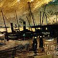 Van Gogh Le Quai Huile Sur Toile 1885  by Pg Reproductions