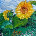 Van Gogh Sunflowers by Dee Carpenter