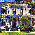 Van Gogh Visits The Old Victorian Camron-stanford House In Oakland California . 7d13440 by Wingsdomain Art and Photography