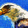 Van Gogh.s American Eagle Under A Starry Night . 40d6715 by Wingsdomain Art and Photography