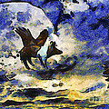 Van Gogh.s Flying Pig 2 by Wingsdomain Art and Photography