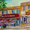 Van Horne Bagel And Yangtze Restaurant Sketch by Carole Spandau
