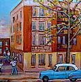 Van Horne Boulevard Montreal Street Scene by Carole Spandau