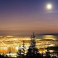 Vancouver At Night, Time-exposure Image by David Nunuk