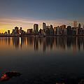 Vancouver Golden Sunrise by Jorge Ligason
