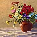 Vase Of Flowers by Vince Hewitt