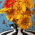 Vase With Gerbera Daisies  by Garry Gay