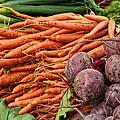 Veggies At The Farmer's Market by Jarrod Erbe
