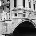 Venice Bridge Bw by Jenny Hudson