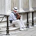 Venice Street Musician by Vicki Hone Smith