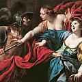 Venus Preventing Her Son Aeneas From Killing Helen Of Troy by Luca Ferrari