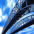 Very Blue Water Bridge  by Gordon Dean II