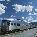Via Rail Canada Train Waiting At Jasper by Todd Gipstein