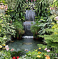 Victorian Garden Waterfall - Digital Art by Carol Groenen