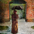 Victorian Lady By Brick Archway by Jill Battaglia