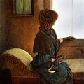Victorian Lady Gazing Out The Window by Jill Battaglia