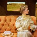 Victorian Lady Riding In A Carriage by Jill Battaglia