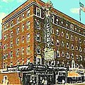 Victory Theatre And Hotel Sonntag In Evansville In 1920 by Dwight Goss
