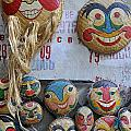 Vietnamese Bamboo Masks For Sale by Sami Sarkis