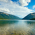 View Above A Beautiful Lake During Mid Day by U Schade